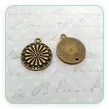 Conector Espiritual 2 - 026   Mandala flor puntitos New* A40161 (2 unidades)