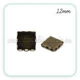 Camafeo conector 12x12mm arandelas rectas sencillo bronce viejo  CUADRADO new* (10 unidades)