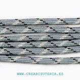 CESCALADA021 - Cordón de Nylon de Escalada  4mm  Gris pizzas blancas y negras (3 Metros)