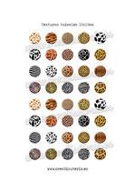 40 Imágenes de estampados de texturas animales 18x18mm