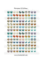 140 Imágenes vintage de mariposas II *Nuevas* 12x12mm