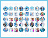 40 imágenes de Frozen 18x18mm