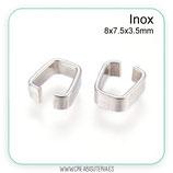 INOX - ANILLA tipo clip acero inoxidable 8x7.5x3.5mm P13P (20 unidades)