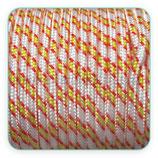 Cordón de Nylon de Escalada Redondo 3mm Blanco y bandera España (3 metros)
