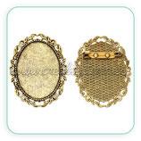 Broche camafeo ovalado oro viejo 30x40 BROOOO-C45512