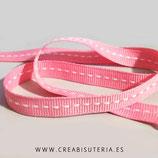 Cinta estampado línea continua blanca y fondo rosa clarito 4 metros