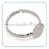 Base anillo plateado ANI-C16807 ( 10 unidades)