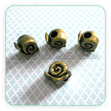 Entrepieza cuero caracol bronce viejo ENTOOO-C13445 / 10 unidades
