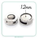 Camafeo Entrepieza  plata vieja cabuchón de 12mm  ENTOOO-PJ417-03AS-NF
