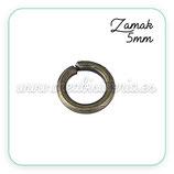 Anillas ZAMAK muy duras bronce viejo 5mm 50 unid