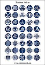 Lámina Imágenes de Símbolos Celtas Azul Marino  I