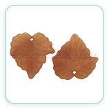 FLORLUCIT  -Hojas traslucidas grandes marrón chocolate  (10 Unidades)