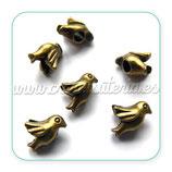 Entrepieza pajarito bronce antiguo ENTOOO-CS4199-4 (4 unidades)