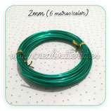 Aluminio 2mm 3METROS/color VERDE PACK 2