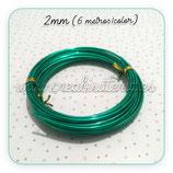 Aluminio 2mm 3METROS/color VERDE PACK 2