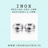 INOX - Accesorios - Bola disco- donuts mini 5x2,5mm INOX49 (20 unidades)