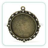 Camafeo ornamental 25mm bronce viejo  CAMBAS-C20905