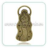 Colgante Virgen Cúidame Plis grande bronce viejo COLOOO-C15018