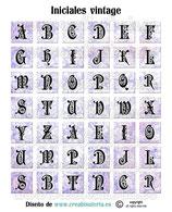 Lámina de iniciales formato cuadrado malva