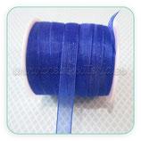 Cinta organza azul electrico fina 0,7cm ancho