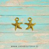 Colgante mar -Estrella de mar pequeña dorada  P88 (10 unidades)