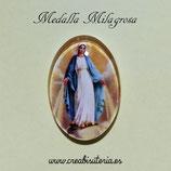 Cabuchón Cristal Religión - Virgen de la medalla Milagrosa - dorado