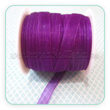 Cinta organza violeta fina 0,7cm ancho