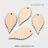Madera hoja  grande lisa MAD- 0512  (10 unidades)