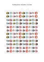 120 Muñequitas colores 12x12mm