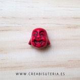 Abalorios howlita Cabeza Buda Rojo 4 unidades