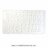 Molde de silicona , abecedario   MS0091058