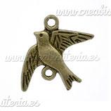 Conector pájaro bronce antiguo CONOOO-C12697 (10 unidades)