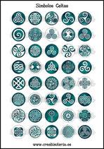 Lámina Imágenes de Símbolos Celtas Verde  I
