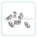 Tapones pendientes - 40 piezas metal plateado  ACCGAN-C16820