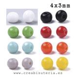 Abalorios -  Cristal de colores rocalla opaca sólida deluxe REGULAR redondeadita 4x3mm  20gr ROCSOL