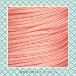 Cordón plastificado Coral/ Salmón - 1,5mm (4 unidades)