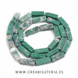 Abalorios Piedra natural Jade cuboide rectangular - 10 unidades
