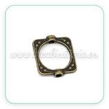 Entrepieza B2 - 024 - Cuenta marco abalorio - cuadrada ornamento (10 unidades) ENTOOO-C14505