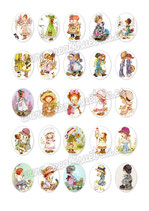 25 Imágenes de muñecas de ilustraciones de años 80II 30x40mm