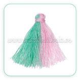 Adorno Borla verde y rosa (3 unidades) AD-C64876