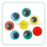 Adorno ojos de colores para pegar 8mm (24 unidades) AD-C35226