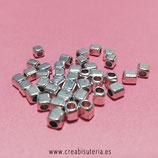 Entrepieza ZAMAK  P7 - 94 - forma cuadradita pequeña  4x3,5mm ENTOOO-C0081420- 20 unidades