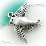 Conector  pájaro plata vieja CONOOO-C02322 (10 unidades)