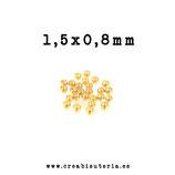 Chafas acero inoxidable  minis doradas 1,5x0,6mm  P80R  (30 unidades)