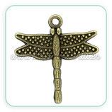 Colgante libélula bronce antiguo COLOOO-C02579 (10 unidades)