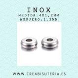 INOX - Accesorios - Bola disco- donuts mini 4x1,2mm INOX13 (20 unidades)
