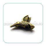 Entrepieza b2  027 colibri bronce antiguo  (10 unidades)