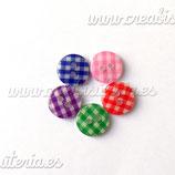 5 Botones cuadritos colores BOTOOO-L12