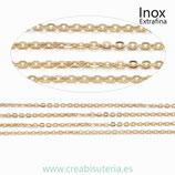 INOX - Cadena eslabón EXTRAFINO dorado INOX (metro)