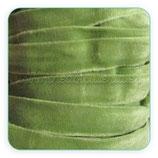 Cinta terciopelo elástico 10mm color Verde oliva